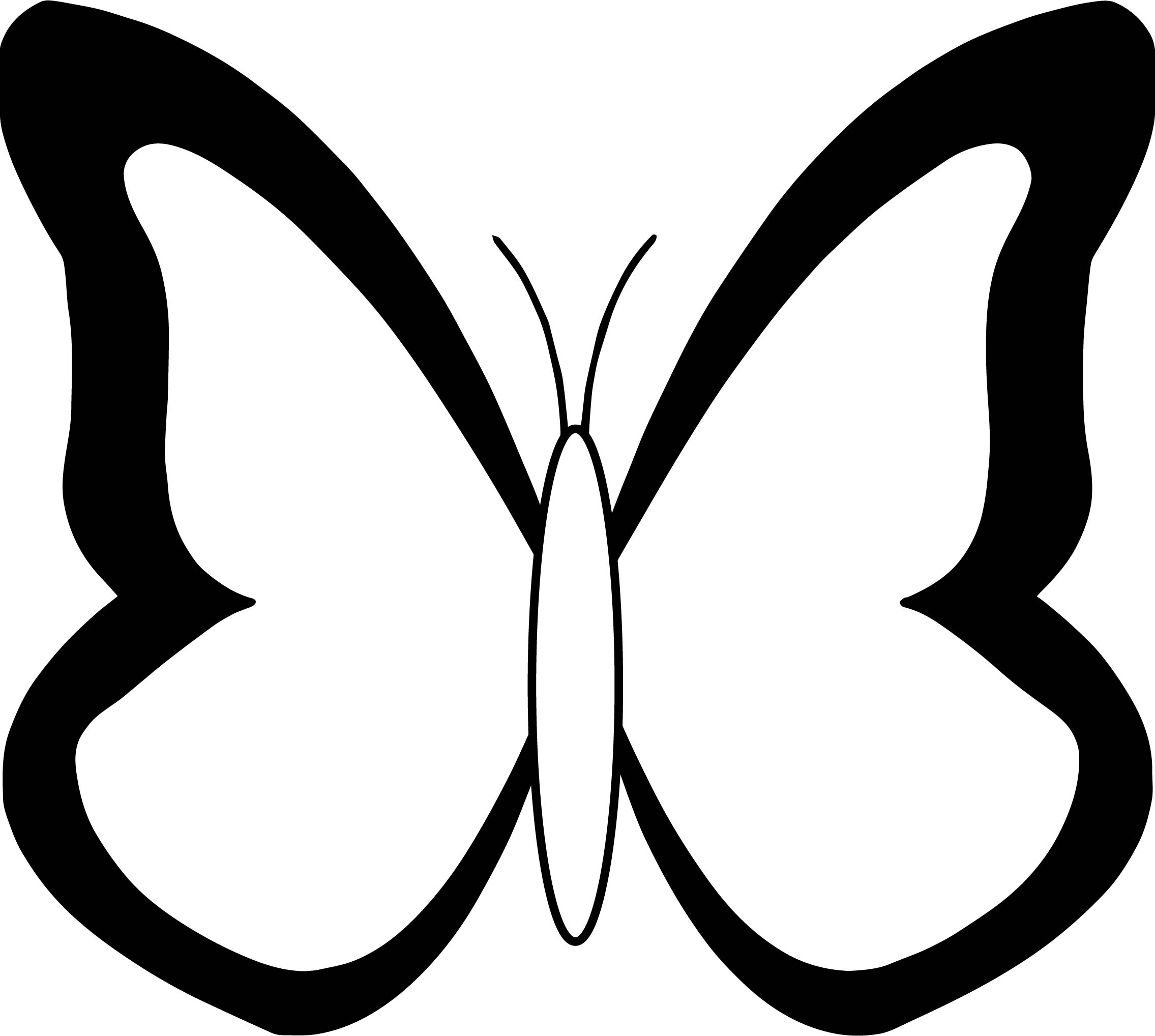 Style Butterfly Coloring Page