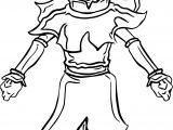 Super Saiyan Aang Buzzcut Dihj Avatar Aang Coloring Page