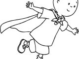 Superman Caillou Coloring Page