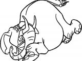 Tantor Elephant And Small Child Tarzan Coloring Page