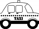 Taxi Car Coloring Page