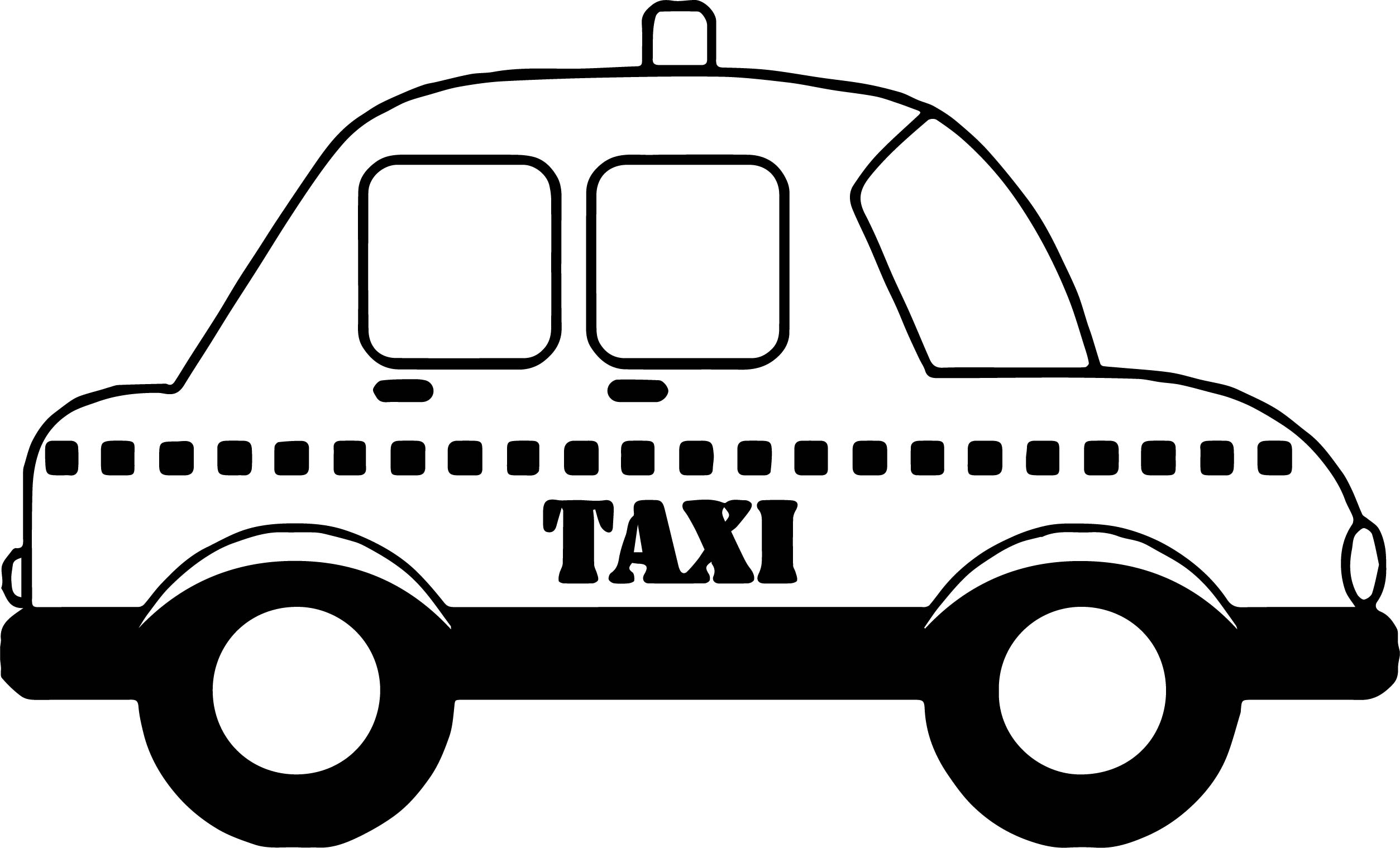 Taxi car coloring page for Taxi coloring page