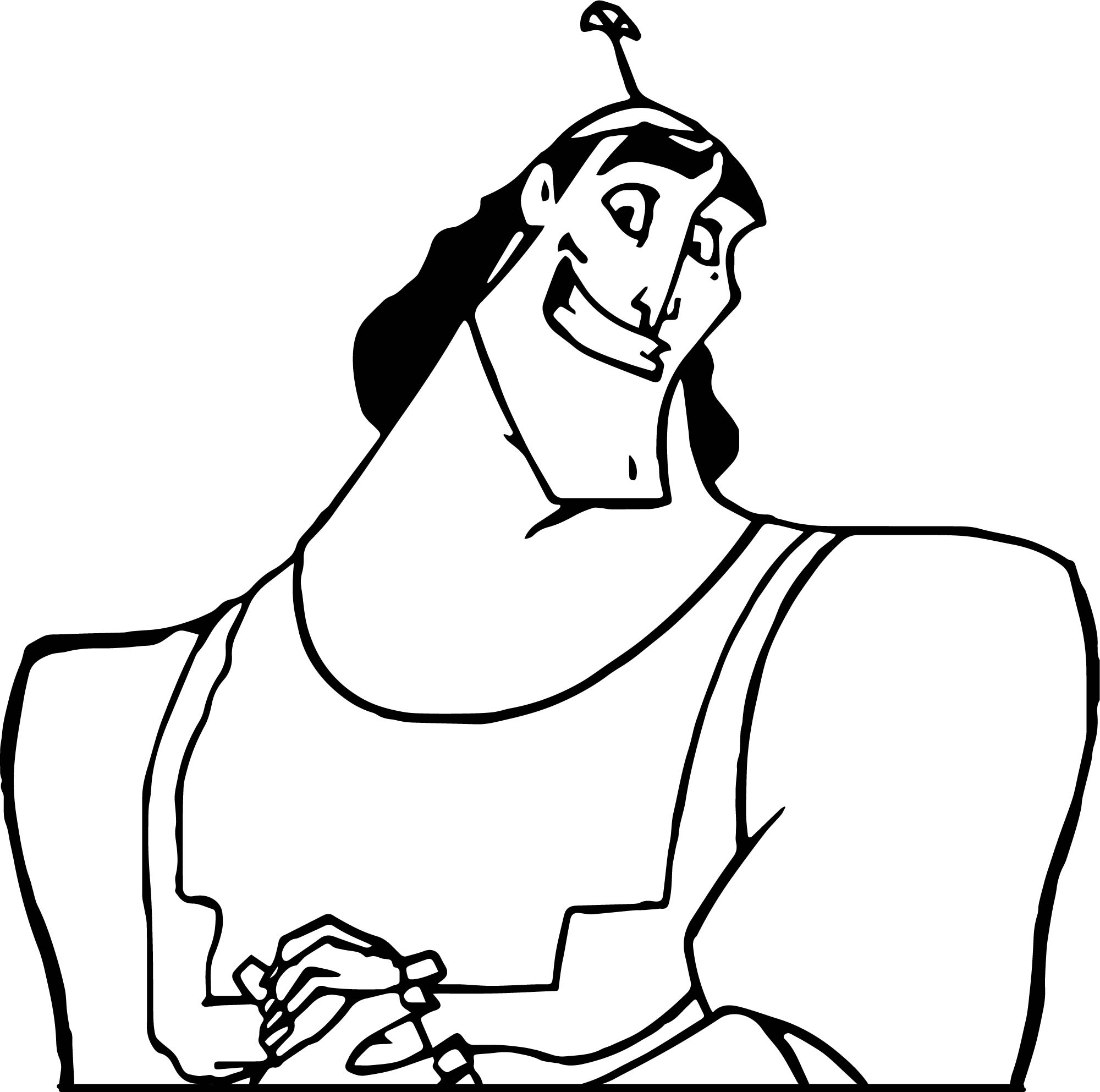 kronk coloring pages - photo#11