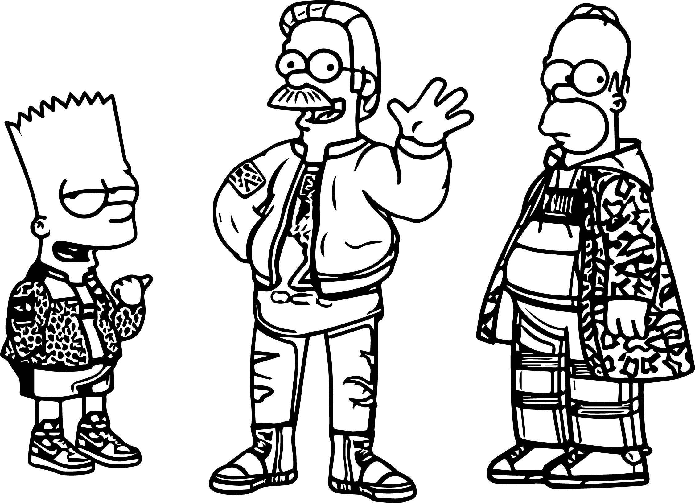 The Simpsons Tommy Bates Header Coloring Page