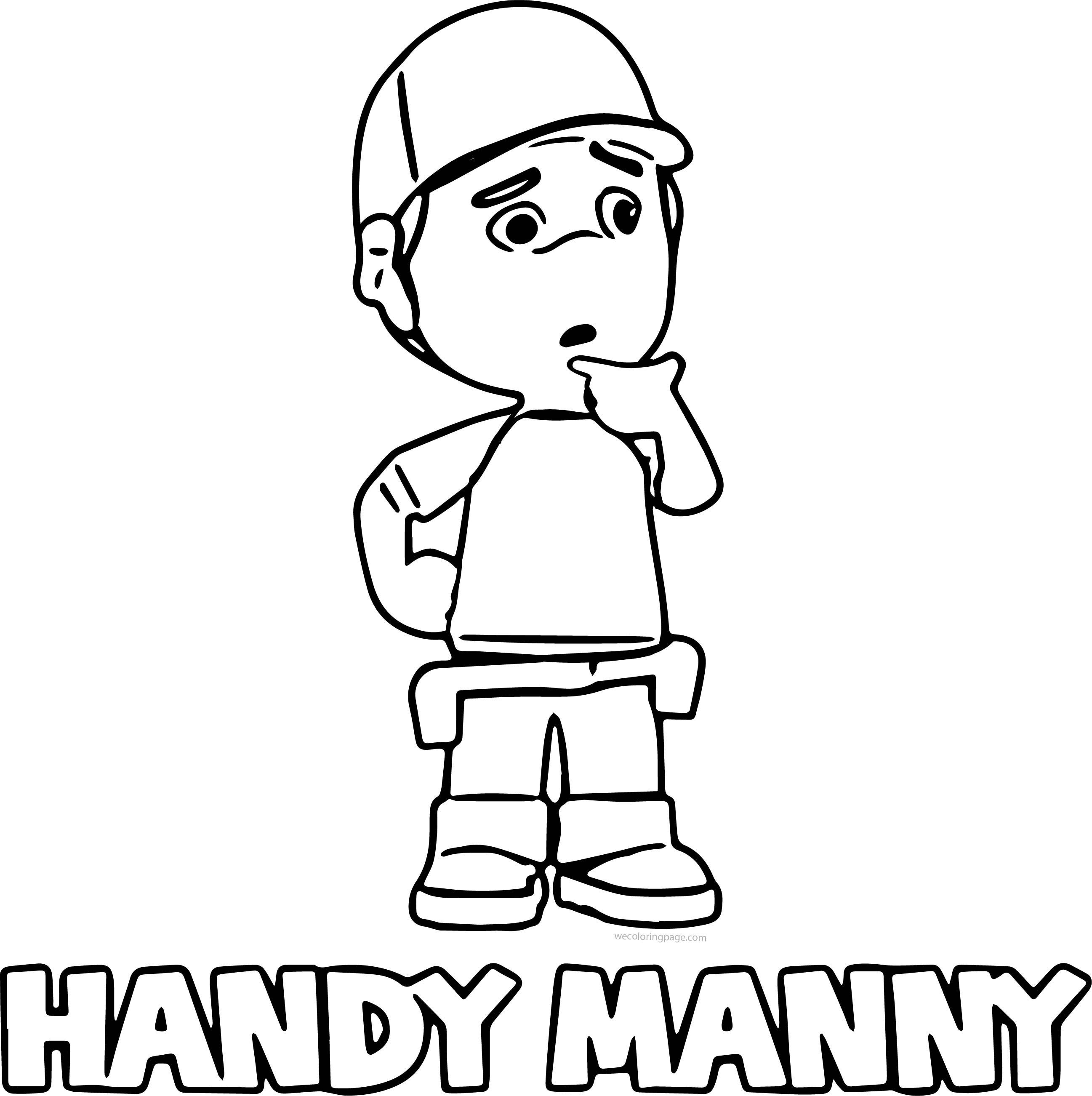 Handy Manny Valentines Day Sheet Coloring Pages