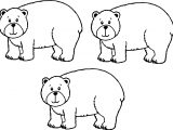 Three Bear Coloring Page
