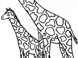 Two Giraffe Coloring Page