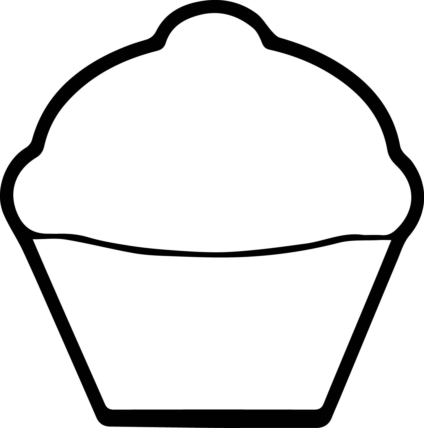 White Cupcake Coloring Page | Wecoloringpage