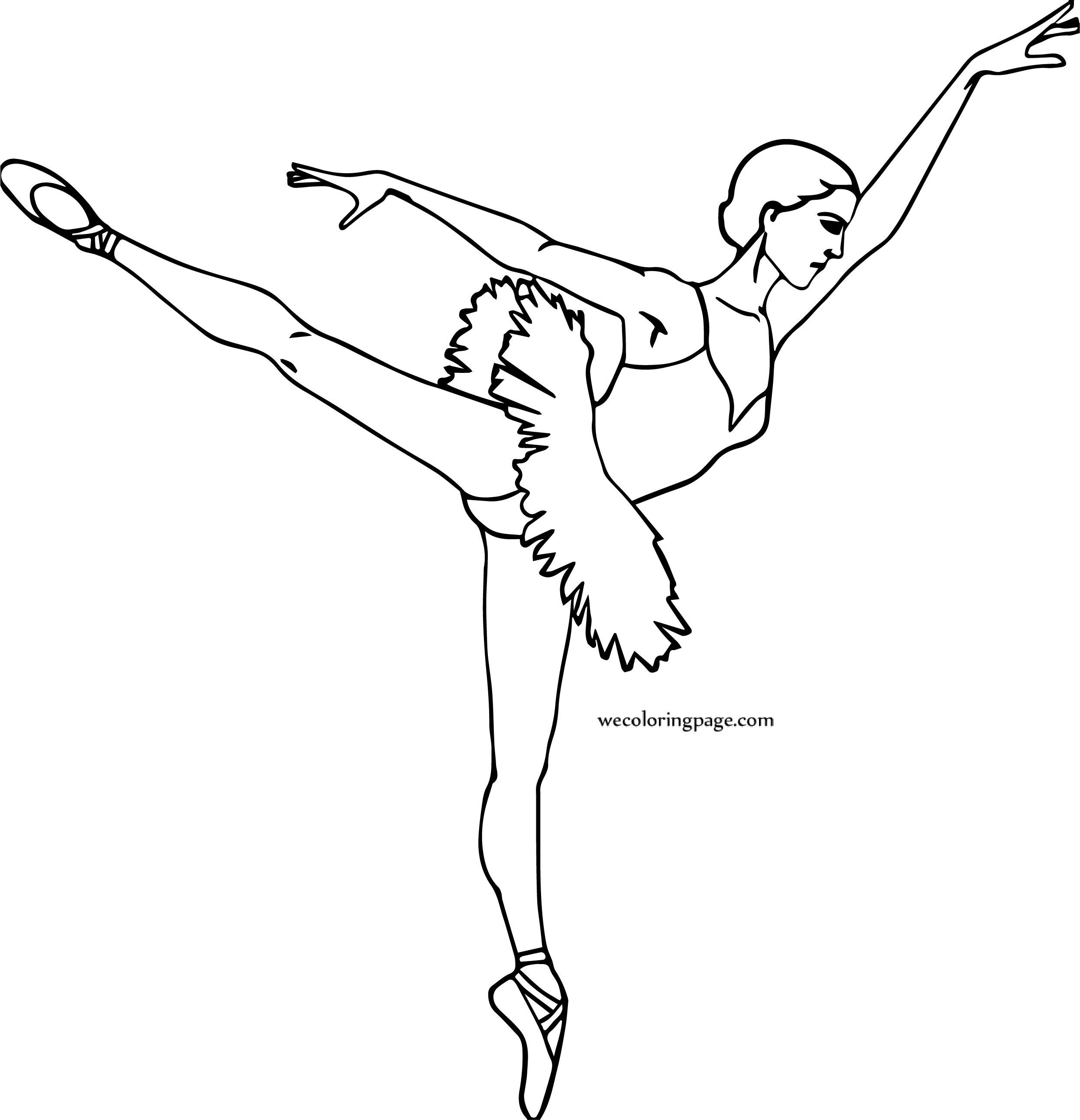 A Ballerina Girl Coloring Page