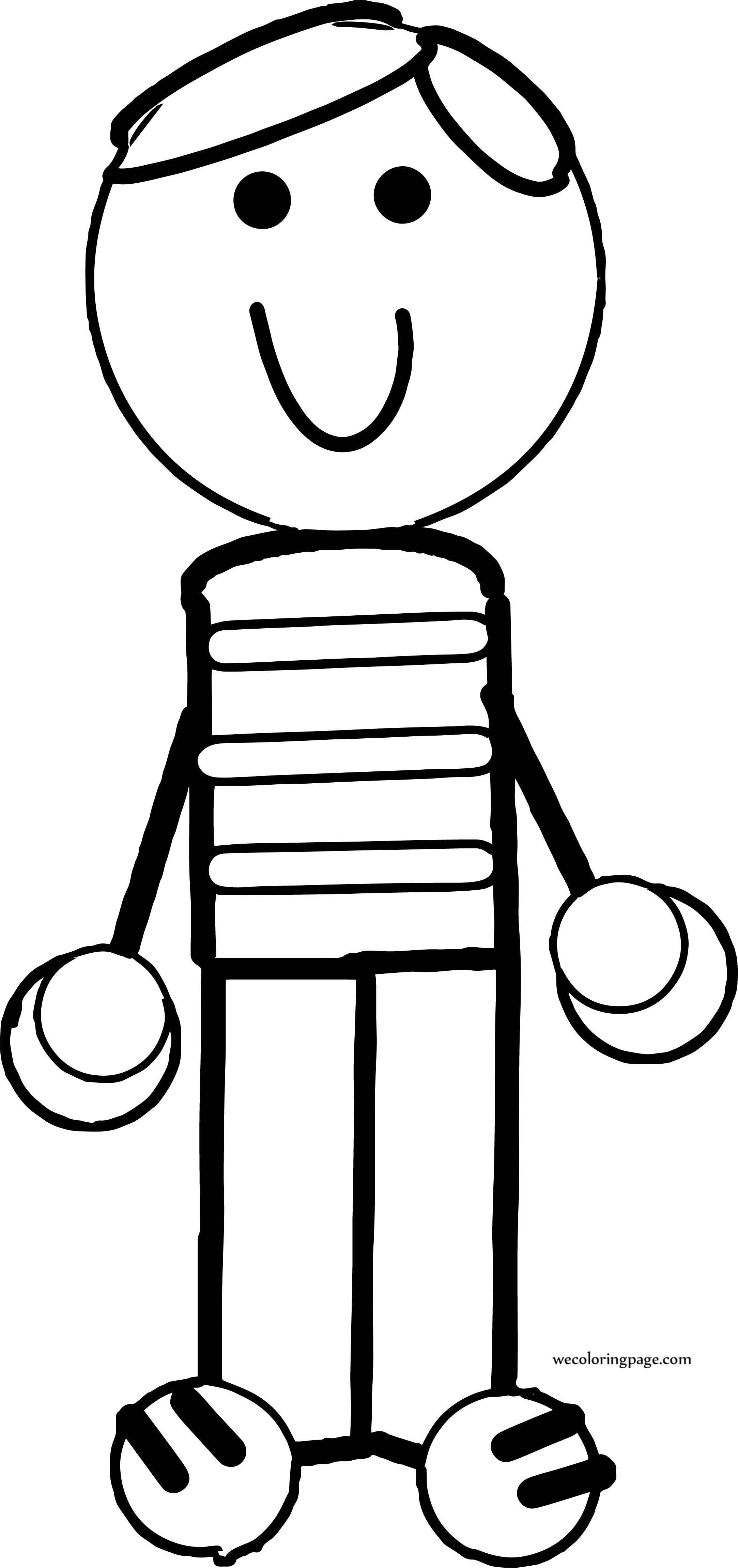 A Boy Coloring Page