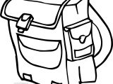 A School Bag Coloring Page