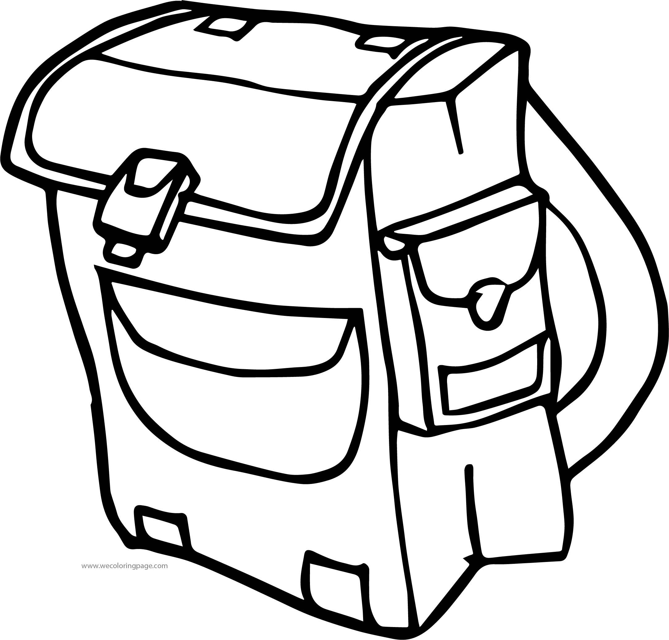 a school bag coloring page wecoloringpage com