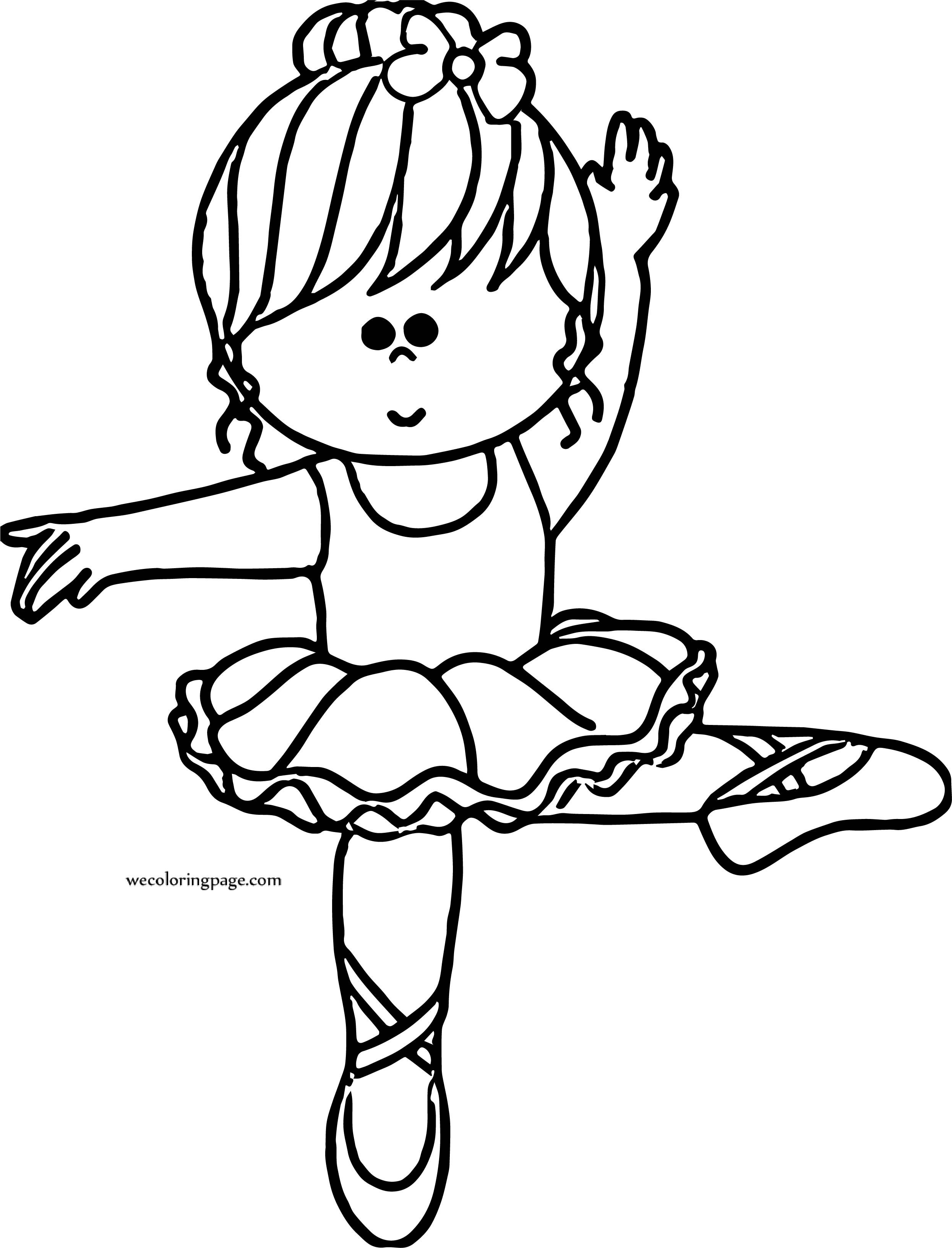 And Ballerina Girl Coloring Page