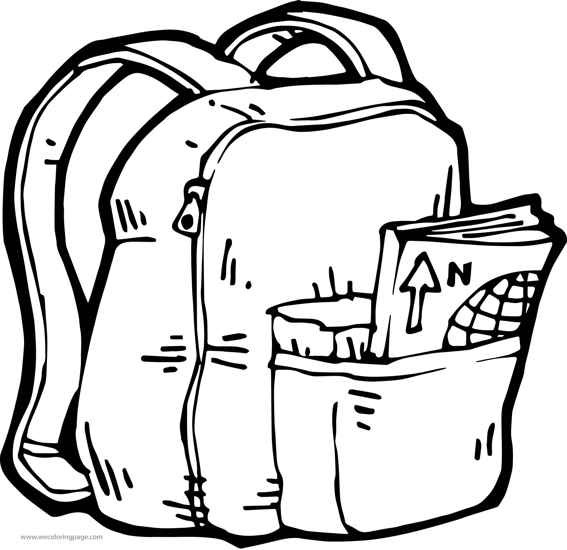 And School Bag Coloring Page