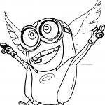 Angel Minions Coloring Page