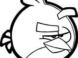Angry Bird What Coloring Page