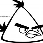 Angry Bird Yellow Icon Coloring Page