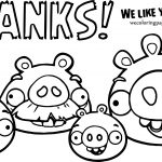 Angry Birds Facebook Thanks Coloring Page