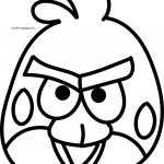 Angry Birds Red Bird Mask Coloring Page