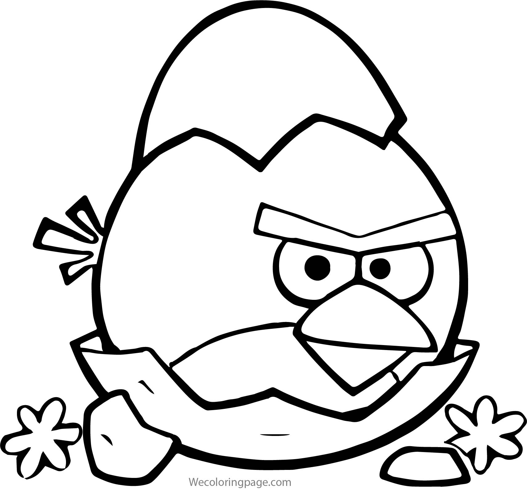Angry Birds Seasons Broken Egg Coloring Page