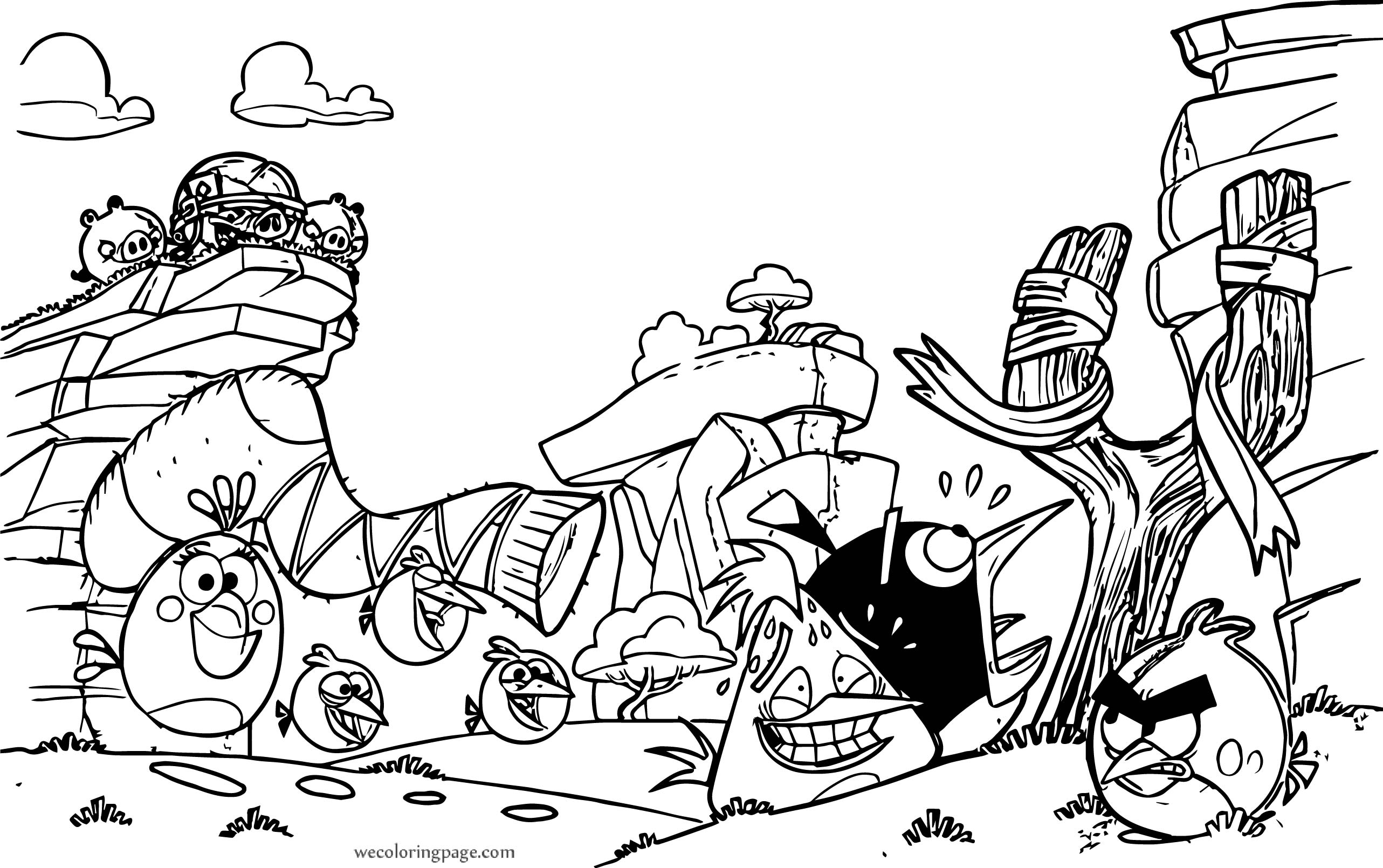 Angry Birds Sock Coloring Page