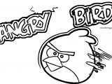 Angry Birds Speed Fly Coloring Page