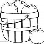 Apple Bucket Coloring Page