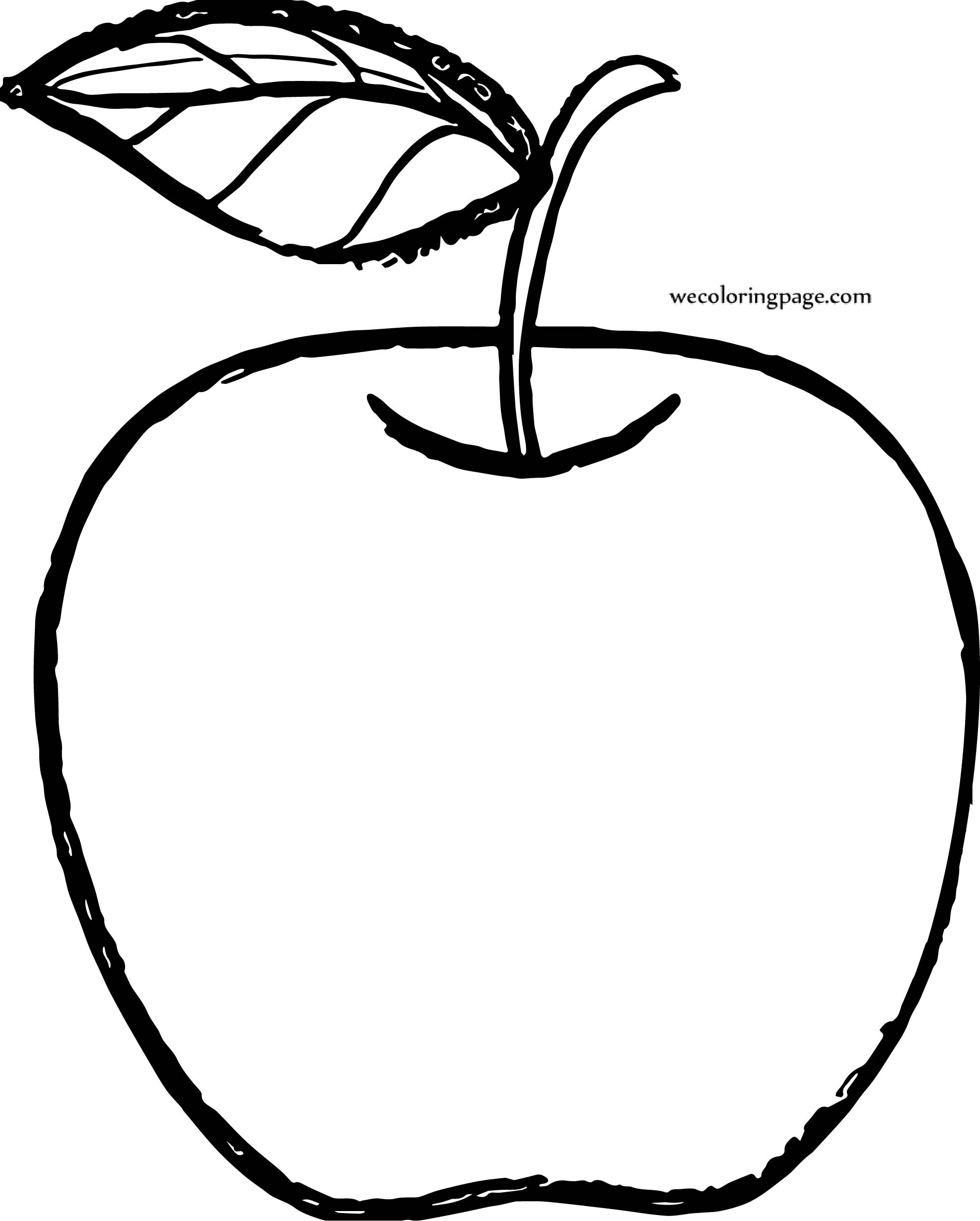Apple Computer Coloring Pages : Apple draw coloring page wecoloringpage