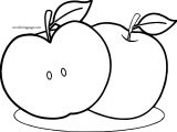 Apple Full And Slice Coloring Page