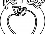 Apple Text Outline Coloring Page