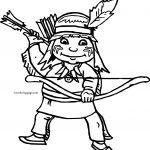 Archer Girl Boy Coloring Page