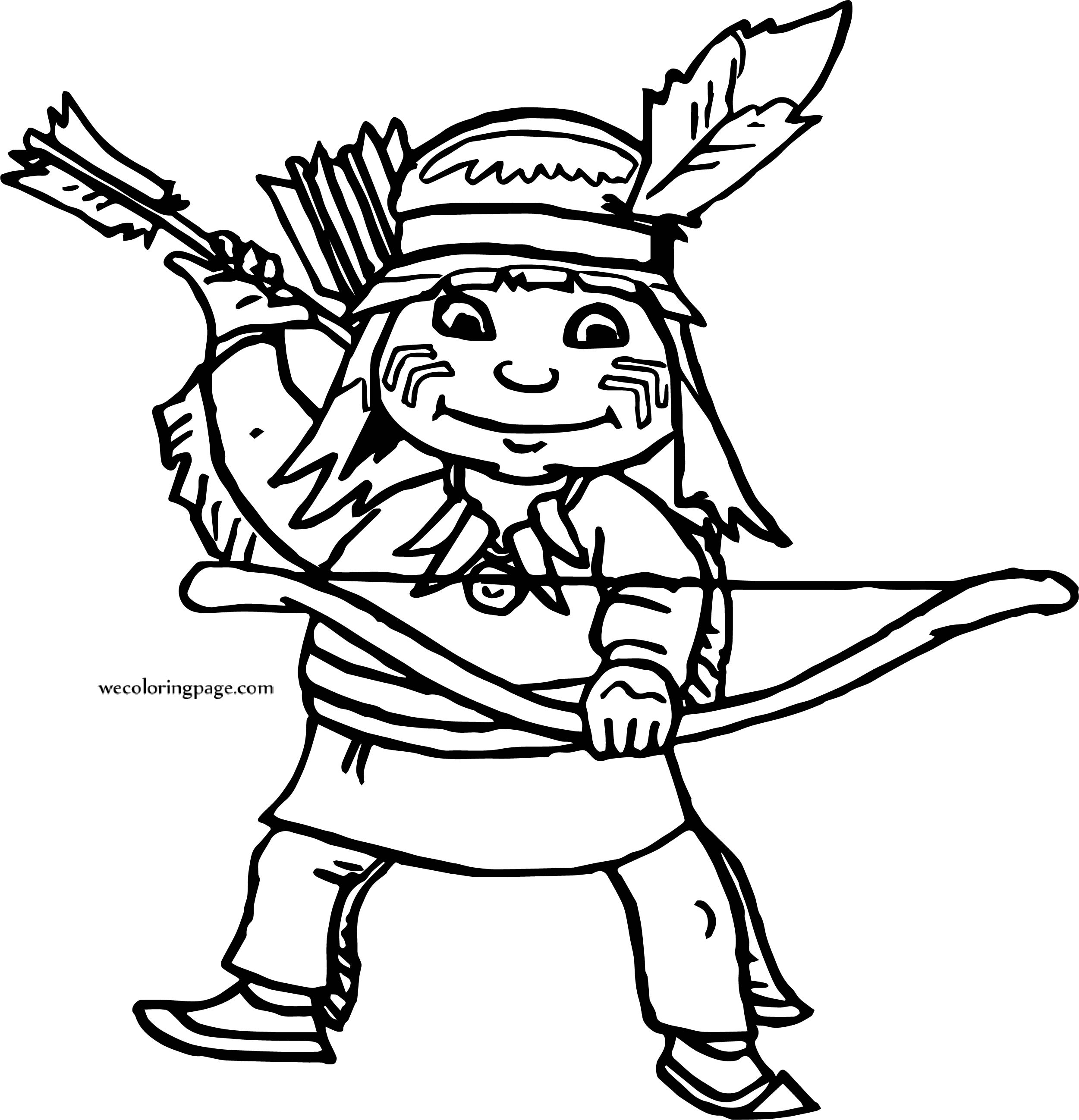 archer girl boy coloring page wecoloringpage com