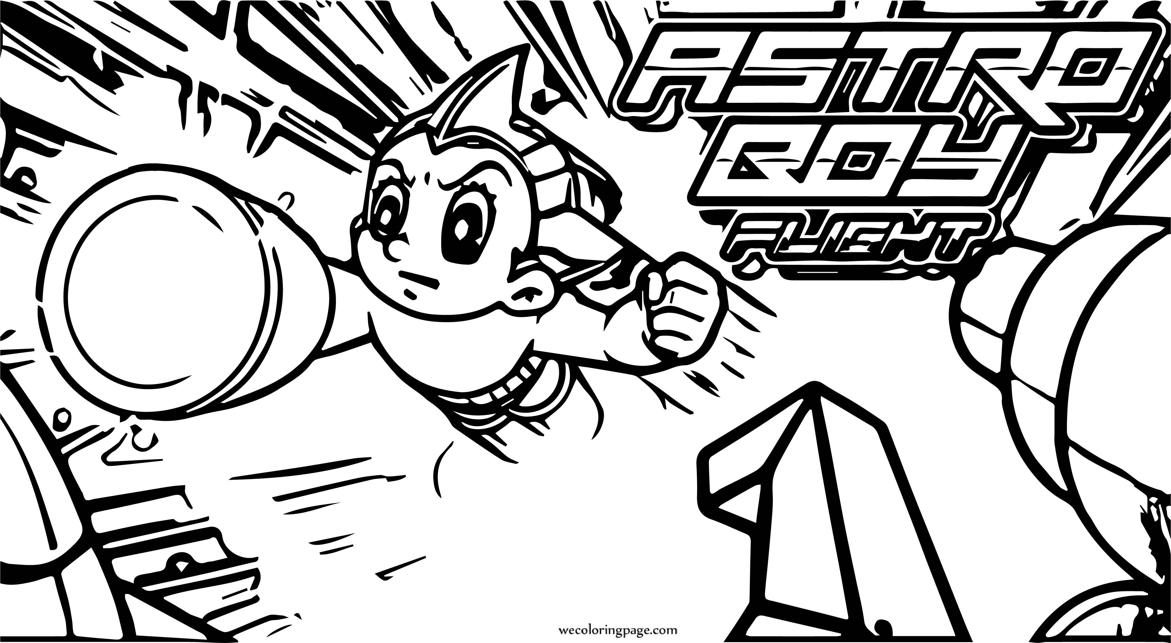 Astro Boy Flight Coloring Page