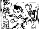 Astro Boy Game Coloring Page