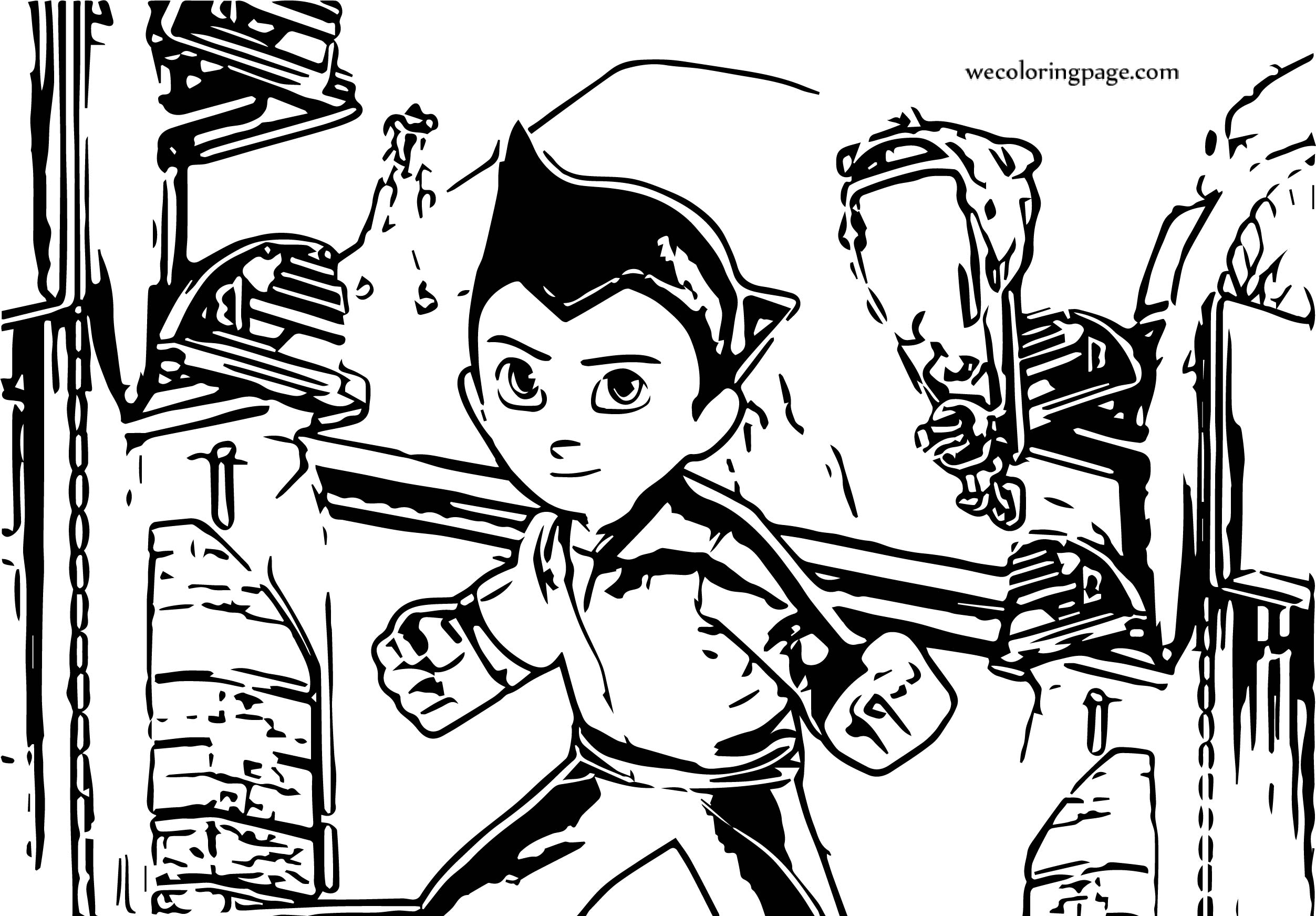 Astro Boy Game Coloring Page