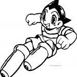 Astro Boy Tetsuwan Atom Coloring Page