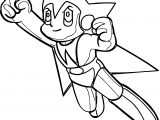 Astro Boy Up Now Coloring Page
