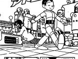 Astroboy Manga Captain Atom Coloring Page