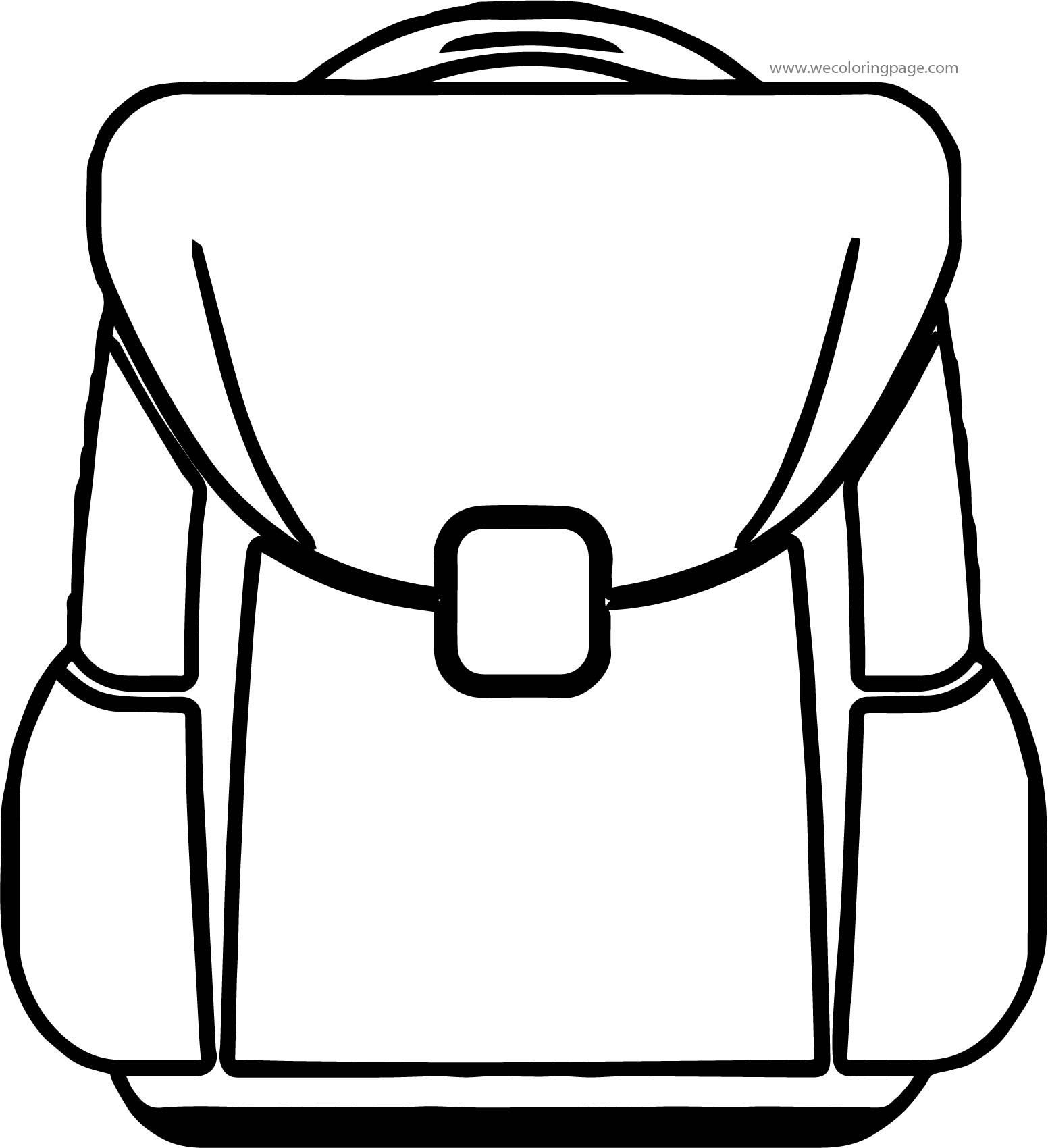 At School Bag Coloring Page