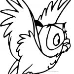 Aurora Misc Sleeping Beauty Flying Owl Coloring Page