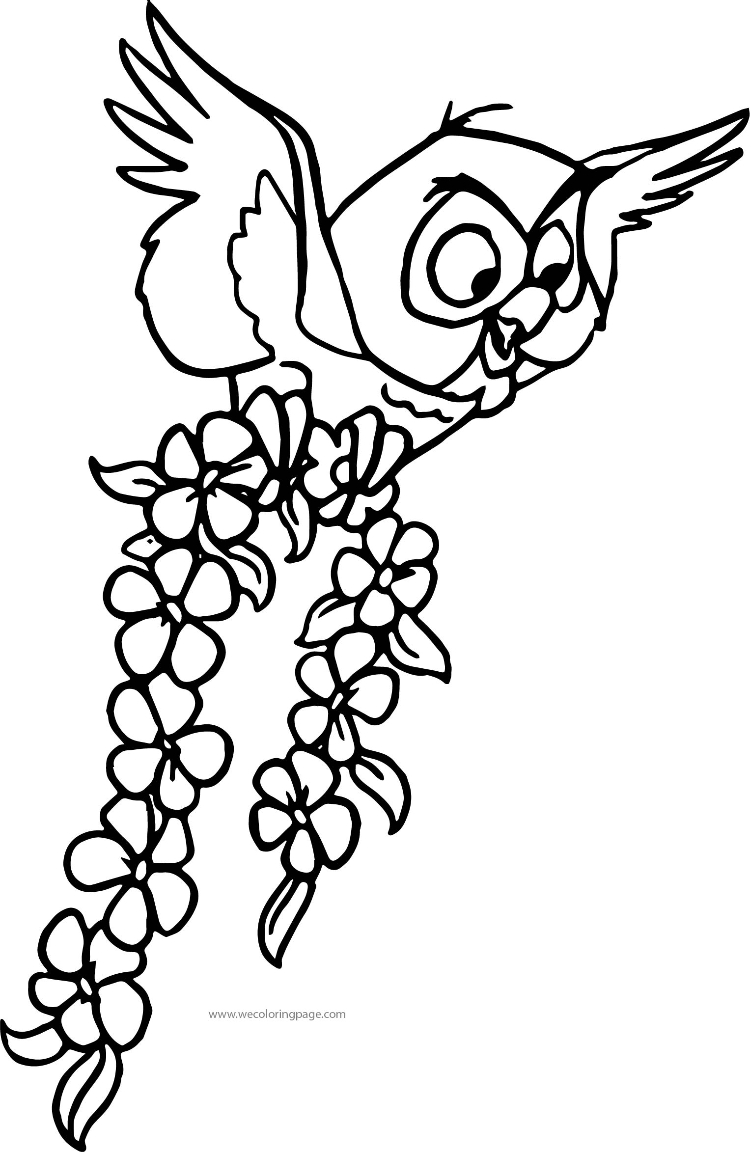Aurora Misc Sleeping Beauty Owl Coloring Page
