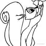Aurora Misc Sleeping Beauty Squirrel Coloring Page