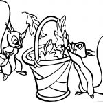Aurora Misc Sleeping Beauty Squirrels Leaves Coloring Page