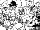Avengers Marvel Coloring Page