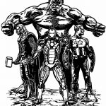 Avengers Sketch Coloring Page