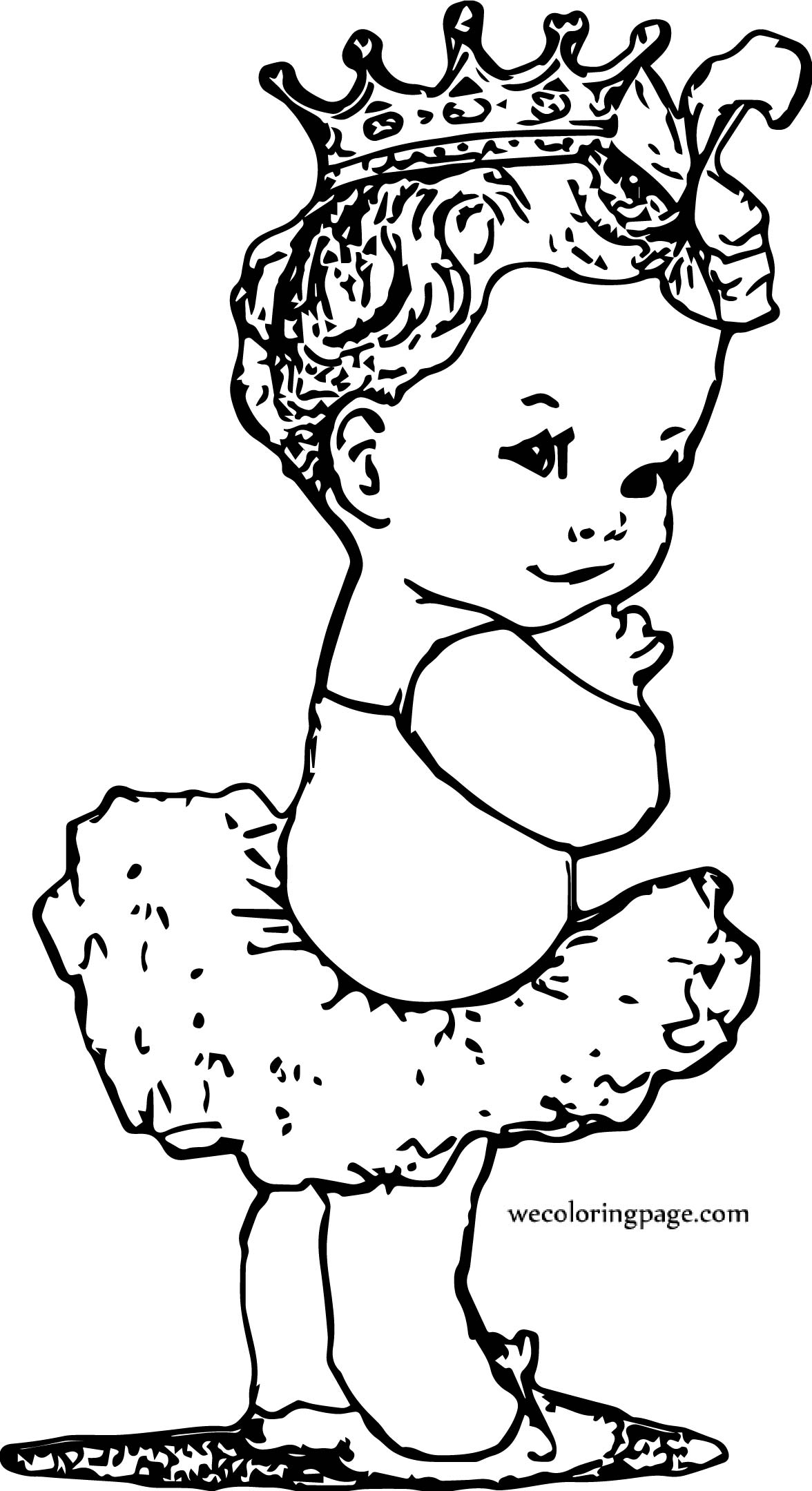Baby Ballerina Coloring Page