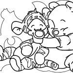 Baby Tigger Winnie The Pooh Hug Me Coloring Page