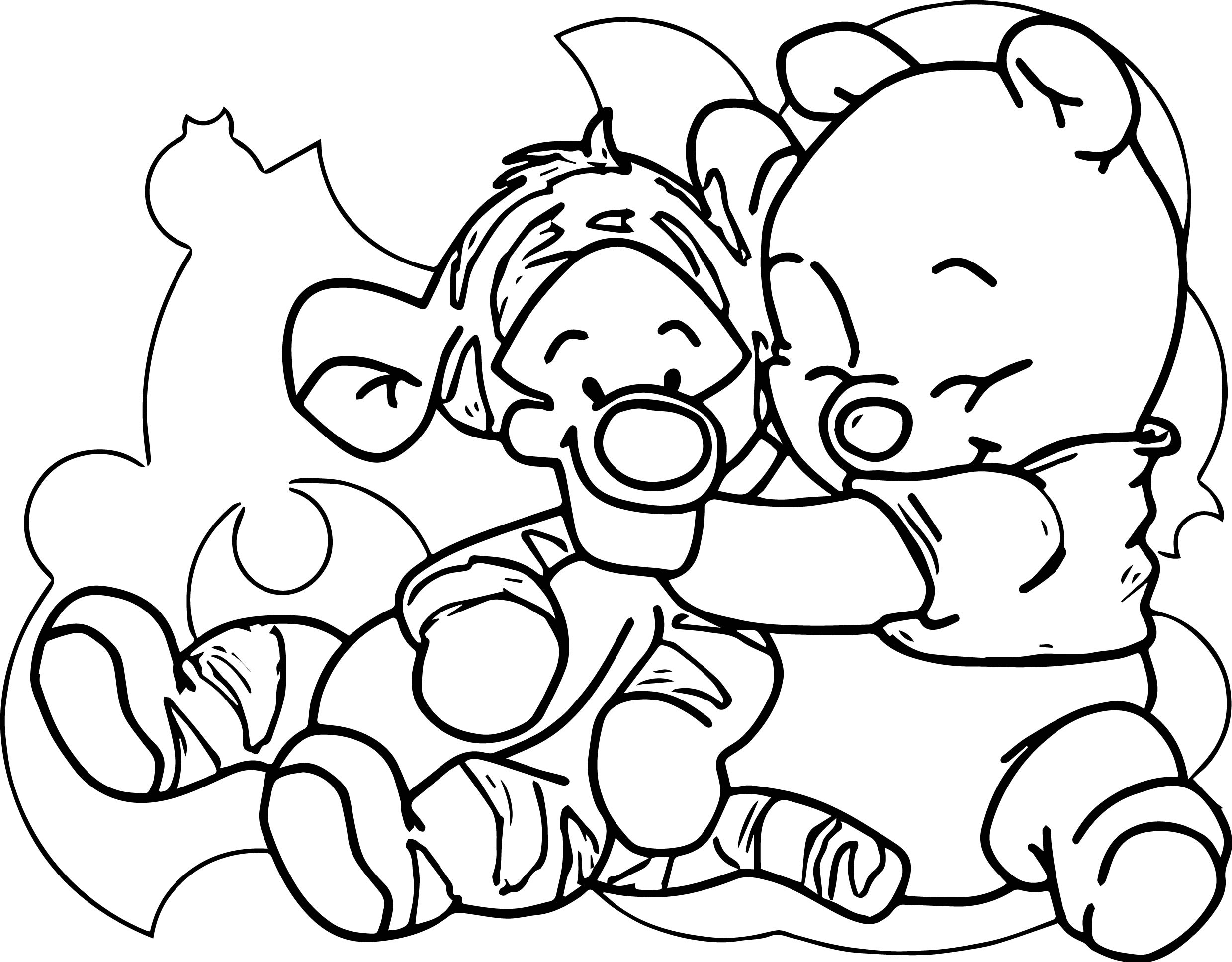 Baby Tigger Winnie The Pooh Hug Me Coloring Page