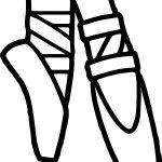 Ballerina Foot Coloring Page