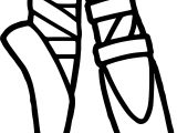 Ballerina Foot Coloring Page